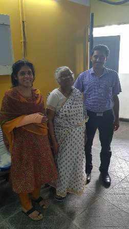 Mrs. Santha after joint replacement